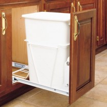 Pull Out Waste Container Without Lid 35 Quart