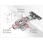 9252 Adjustable Concealed Soft Close Hinge